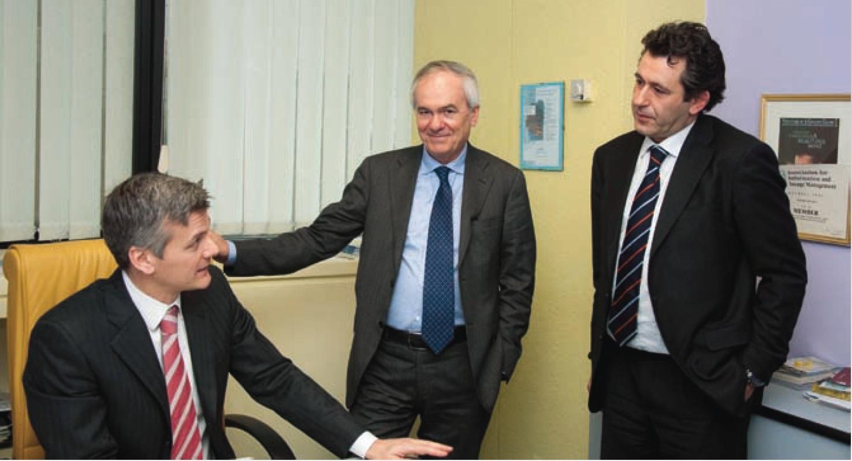 Da sinistra - Vincenzo Cocciolo, Carlo Petti, Maurizio Savoca