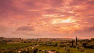Un tramonto alla tenuta Ammiraglia