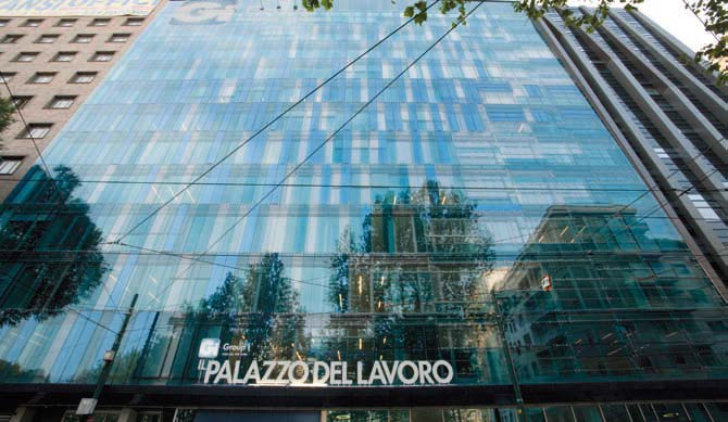 La sede di Gi Group in Piazza IV Novembre 5 a Milano, dove si trovano anche gli uffici di Intoo