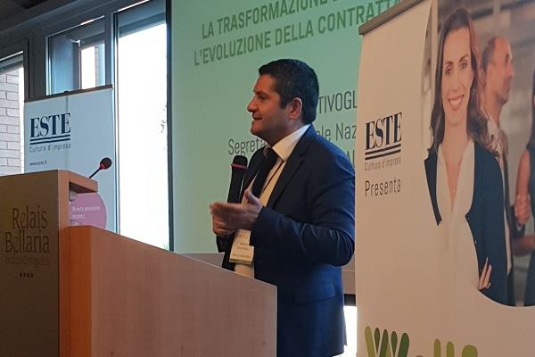 L'intervento di Marco Bentivogli all'evento Wellfeel organizzato da ESTE a Bologna