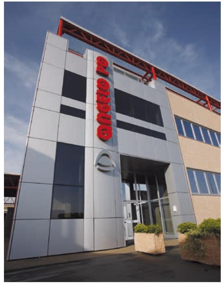 Vista dell'edificio dell'azienda Angelo Po